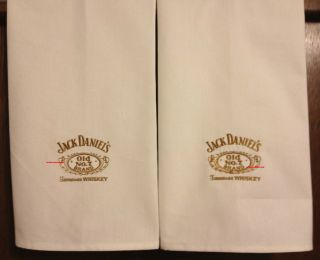 Whiskey Jack Daniels   2 EMBROIDERED BATH OR KITCHEN TOWELS by Susan