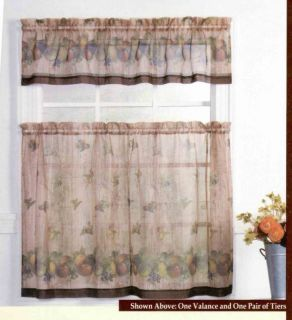 Country Fruits Kitchen Curtains