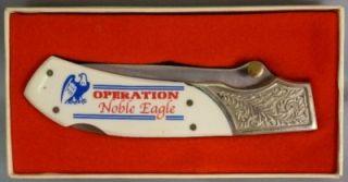 Noble Eagle, Single Blade Folding Pocket Knife, Frost Cutlery