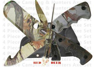 knives butcher skinning knife set sharpener case 4 pc hunting knives