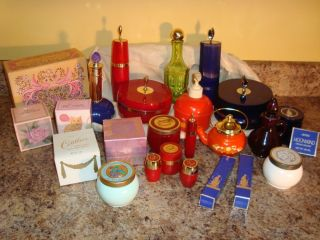 Huge 25pc Lot Vintage Avon Cosmetics Collectables Charisma Moonwind