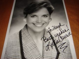 Young Katie Couric CBS 8 x 10 Autograph