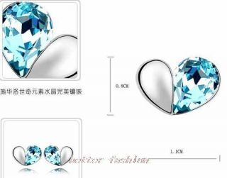 Set Swarovski Crystal Necklace Earring Bracelet Options 2colour U