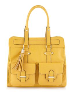 Handbags by Romeo Juliet Couture Avery Tassel Tote Yellow