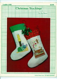 Graph Menagerie Christmas Stocking Cross Stitch Leaflet
