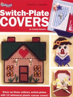 12 Switch Plate Covers Cat Rainbow House TNS Plastic Canvas Pattern