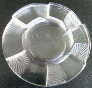 Lalique Cuba Pattern Clear Glass Ashtray