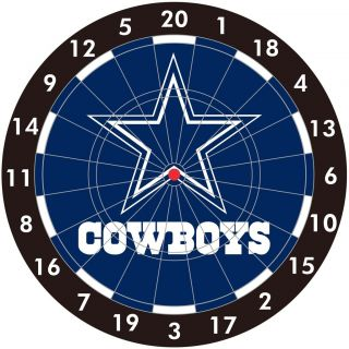 NFL Dallas COWBOYS Logo Bristle Dart Board NEW