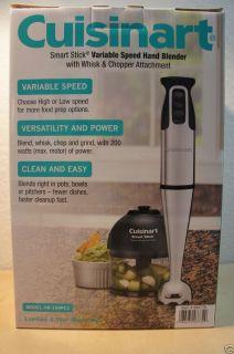 NEW CUISINART SMART STICK BLENDER W WHISK CHOPPER Immersion Hand Mixer