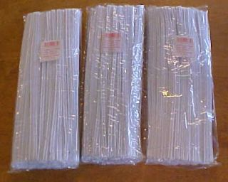 Lot of 300 White Pipe Cleaners Kids Craft Project New