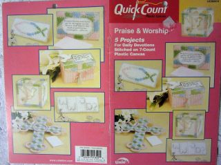 WORSHIP 5 PROJECTS FOR DAILY DEVOTIONS! Easy Plastic Canvas Patterns