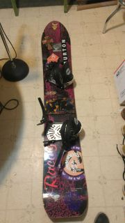 Old School Burton Snowboard Air Craig Kelly Extreme with PBS Bindings