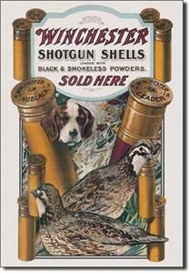 940 METAL / TIN SIGN~WINCHESTER Dog & Quail~MADE IN THE USA  11 X 16