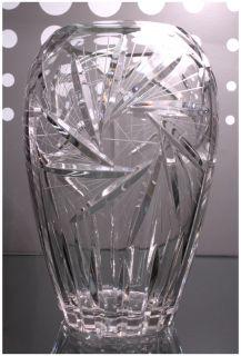 Crystal Glass Art Deco Vase of Flowers Jar Mid Century Modern À