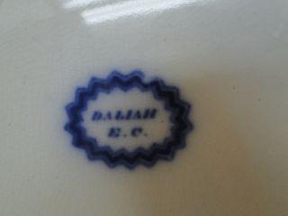Antique Flow Blue Plate Daliah Pattern Edward Challinor Ironstone 1850