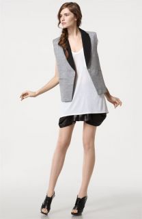 Alexander Wang Tee & Apron Front Shorts with Cutout Back Vest