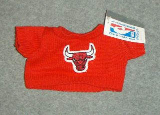 Bulls Teddy Bear Sweater/Top Hallmark + NBA Basketball Doll Clothes