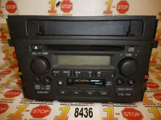 00 01 ACURA TL BOSE RADIO AM/FM CD & CASSETTE PLAYER 2TB0 OEM