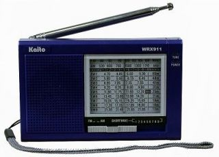 Kaito WRX911 Portable AM FM Shortwave Radio + Adapter