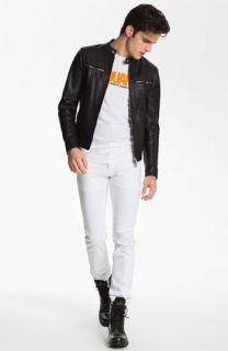 Dsquared2 Moto Jacket, T Shirt & Slim Fit Jeans