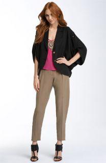Trina Turk Fabiola Relaxed Jacket, Mame Leather Embellished Tank & Summerlong Pants