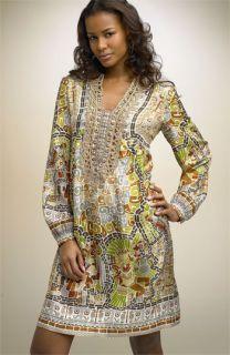 Nicole Miller Mosaic Print Silk Dress