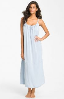 Donna Karan Sleepwear Gathered Matte Satin Nightgown