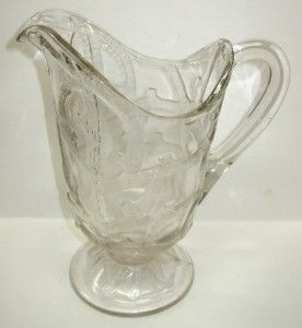 Antique Dalzell Ohio USA Branched Tree EAPG Clear Glass Water Pitcher