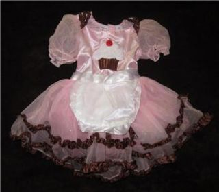 AUTHENTIC Cupcake Halloween Costume Baby Girl Toddler 2T Pink Tutu