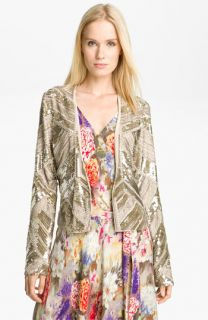 Haute Hippie Embellished Silk Jacket