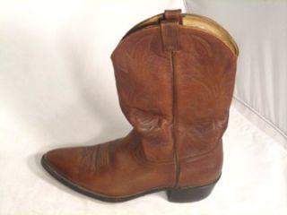 Mens Dark Brown Dan Post Cowboy Boots Western sz 13B Narrow Leather