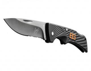 Superior New Gerber Bear Grylls Black Knife Compact Scout Lockback