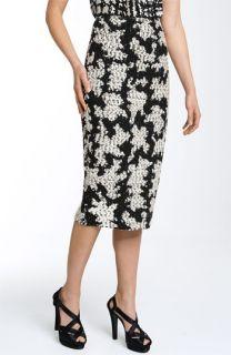 St. John Collection Urban Plaid High Waist Knit Pencil Skirt