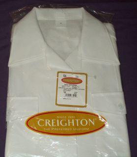 Creighton Womens Navy officiers shirts THREE white short sleeve NEW