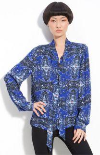 A.L.C. Batik Print Silk Blouse