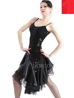 Latin Dance Dress Modern Dance Salsa Competition Lace Ruffle Dance