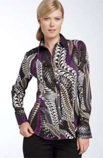 Paperwhite Printed Stretch Cotton Shirt