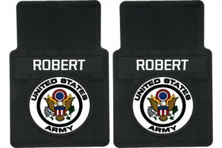 United States Army Personalized Rubber Car Floor Mats