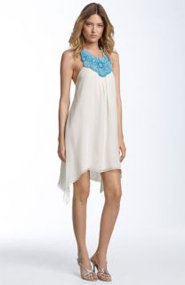 Haute Hippie Beaded Neck Halter Dress