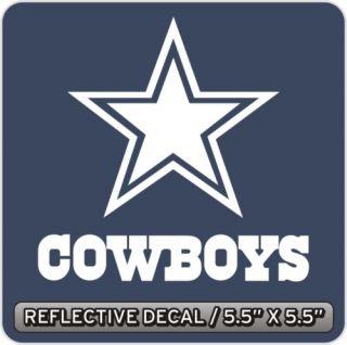Dallas Cowboys Reflective Decal Sticker