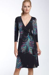 Lily Print Matte Jersey Wrap Dress (Petite)