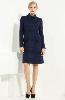 Valentino Lace Inset Wool & Cashmere Coat