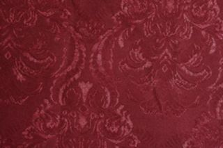 Damask Brocade Fabric Over 1 Yard Heavy Weight Drapery Burgundy