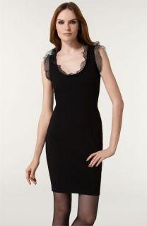 RED Valentino Organza Trim Jersey Dress