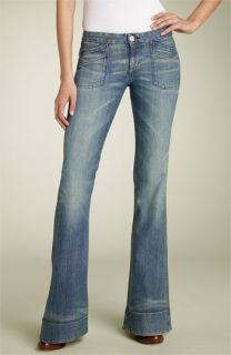 Earnest Sewn Lau Cuff Flare Leg Stretch Jeans