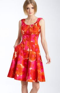 Maggy London Print Stretch Cotton Dress