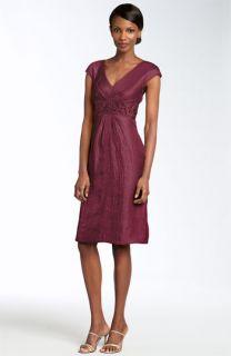 Patra Beaded Crinkled Satin Dress