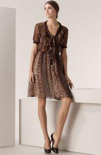 Jason Wu Leopard Print Chiffon Dress