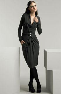 Donna Karan Collection Cowl Front Jersey Dress