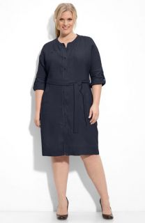 Eileen Fisher Organic Linen Shirtdress (Plus)